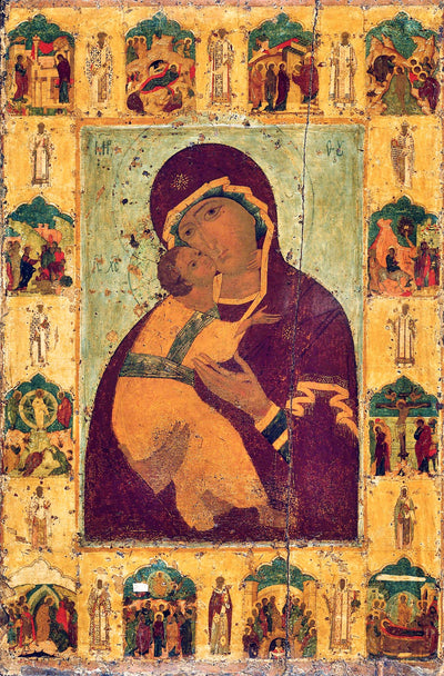 "Our Lady Theotokos of Vladimir "" Vladimirska"" icon (2)"