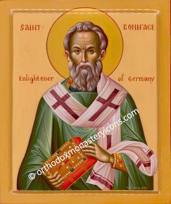 St. Boniface Enlightener of Germany icon