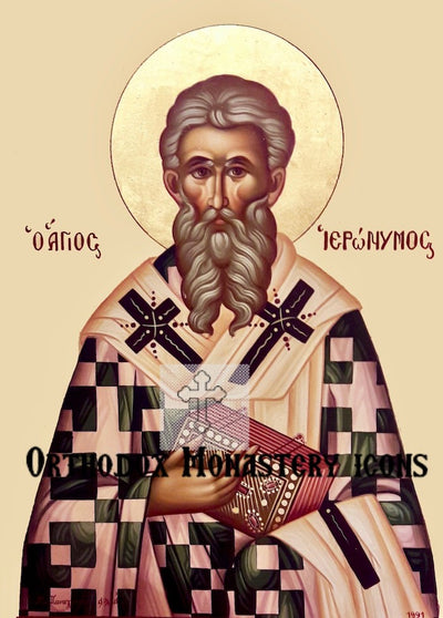 St. Jerome, Hieronymus of Stridonium icon