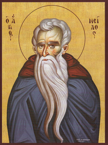 St. Nilus, the Myrrh-Guster of Mount Athos icon