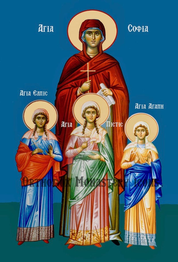 St. Sophia and Daughters icon (4)