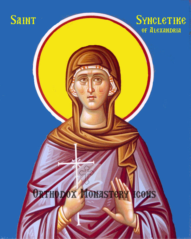 St. Syncletike of Alexandria icon