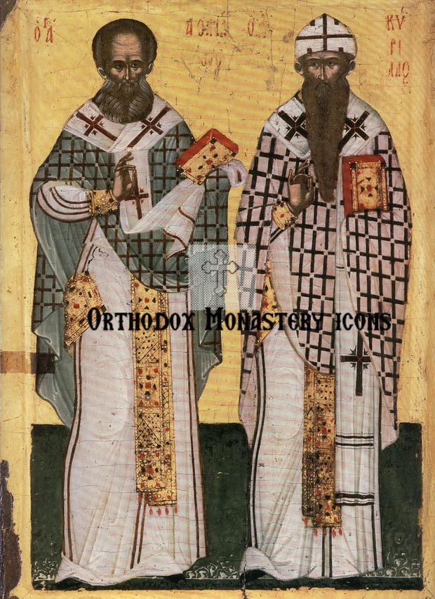 Ss. Athanasius and Cyril icon