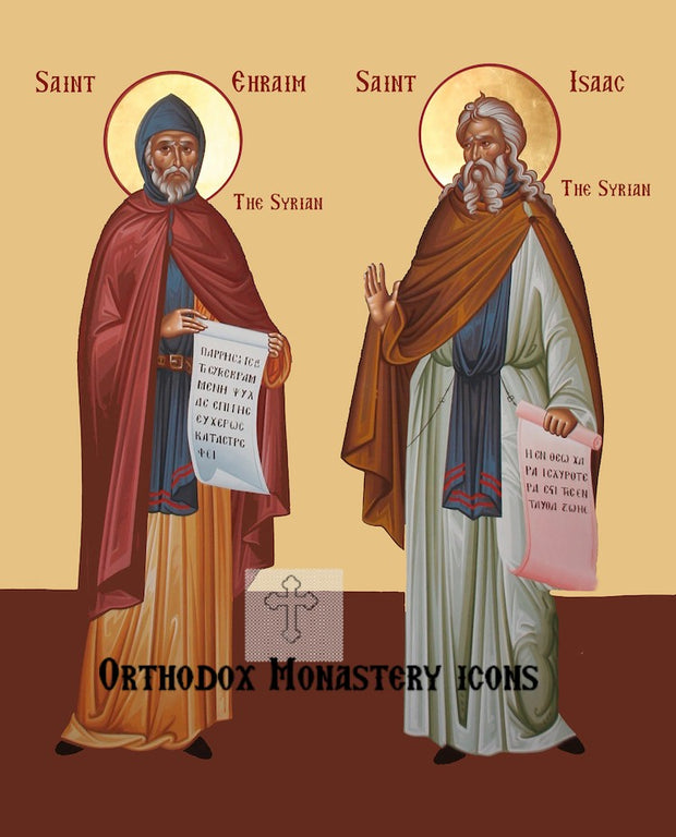 St. Ephraim and St. Isaac the Syrians icon
