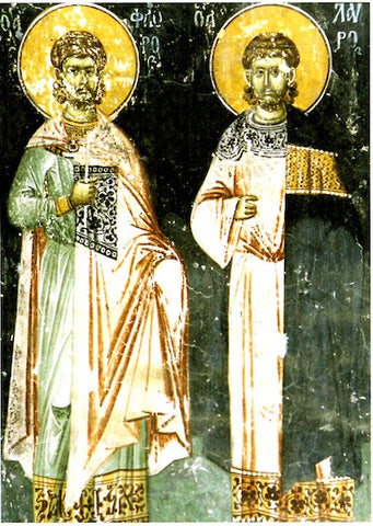 Ss. Florus and Laurus the Martyrs of Illyria icon