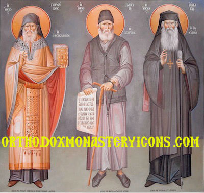 Ss. Porphyrios, Paisios and Iakovos icon