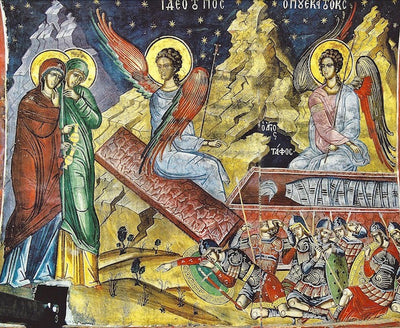 """See the place where the Lord lay"" icon (2)"