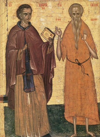 Ss. Paul of Thebes and John Calebytes icon