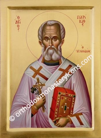 St. Patrick the Enlightener of Ireland icon (2)