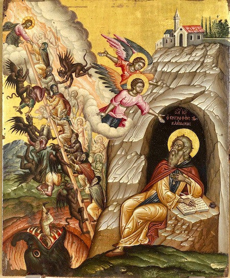Ladder of the Divine Ascent, the Vision of St. John of Climacus icon
