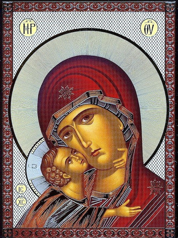 Jesus Christ and Most Holy Theotokos Pair Icons(P15)