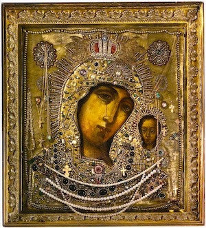 Our Lady Theotokos of Kazan icon.
