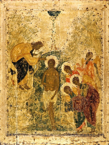 Baptism of our Lord Jesus Christ-Theophany icon (5) (by Rubliev)