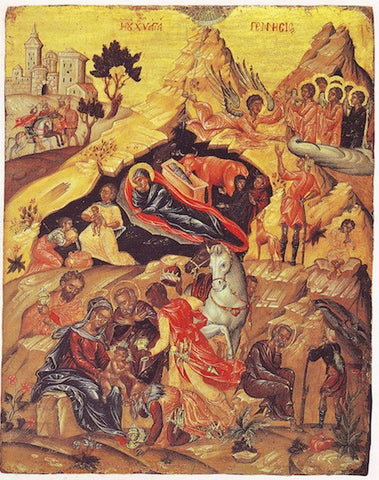 Nativity of our Lord Jesus Christ and the Veneration of the Magi icon