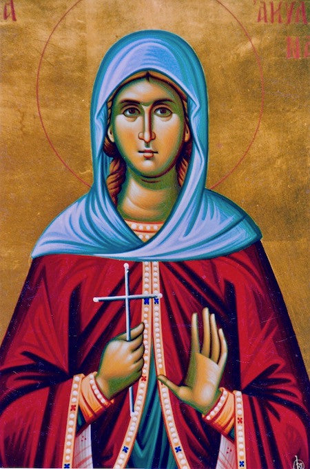 St. Aquilina the Virgin- Martyr icon