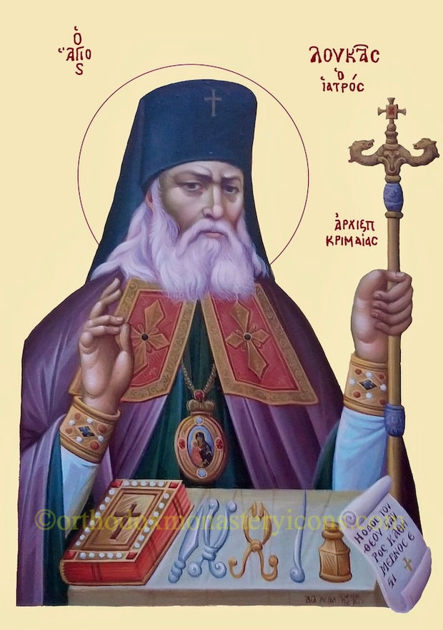 St. Luke  Bishop of Simferopol and Crimea icon