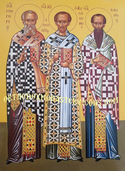 Three Hierarchs (Basil, Gregory, John) icon (3)