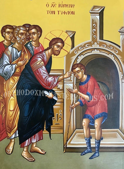 Christ and the Blind man icon