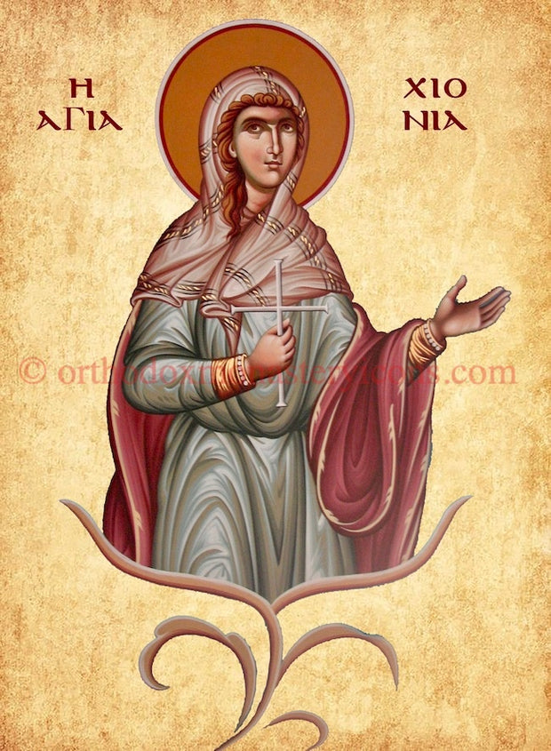 St. Chionia the Virgin- Martyr icon