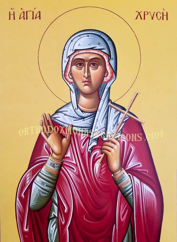 St. Chryse the Virgin- Martyr of Rome icon