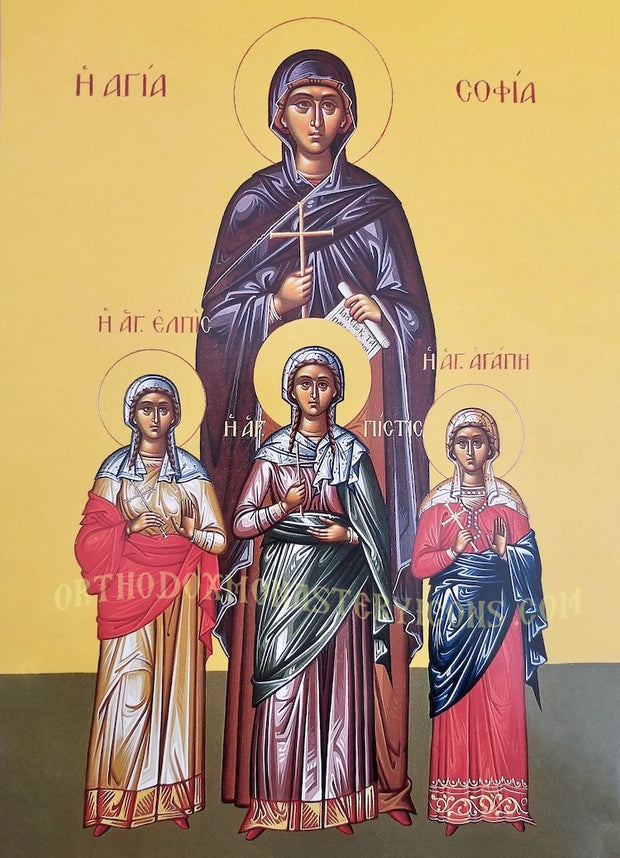 St. Sophia and Daughters icon (3)