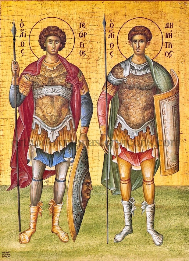 Ss. George and Demetrius icon