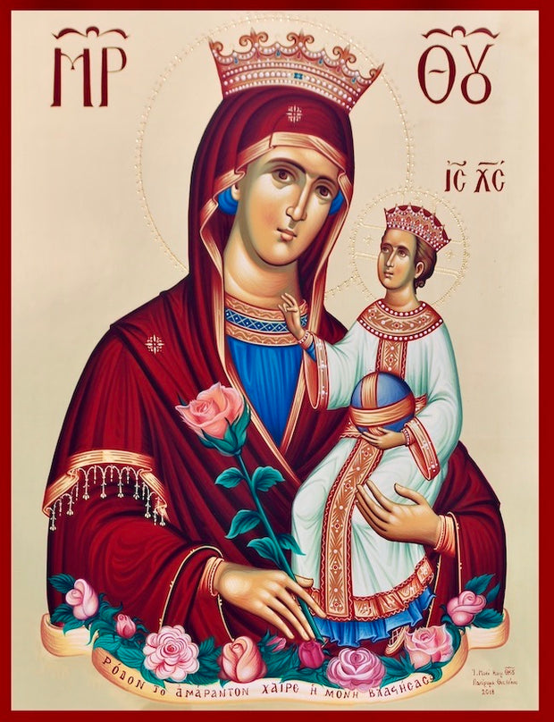 "Theotokos ""Unfading Rose"" icon"