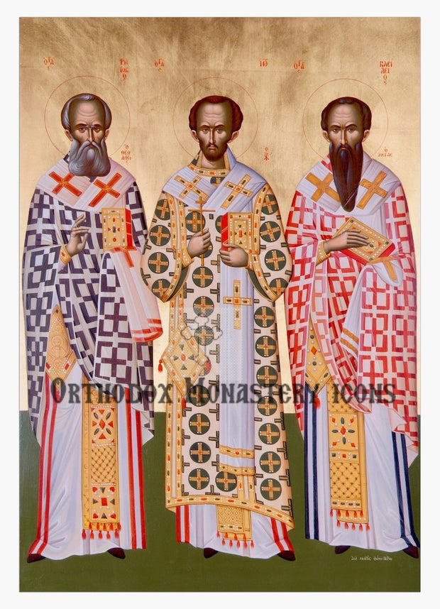 Three Hierarchs (Basil, Gregory, John) icon (1)