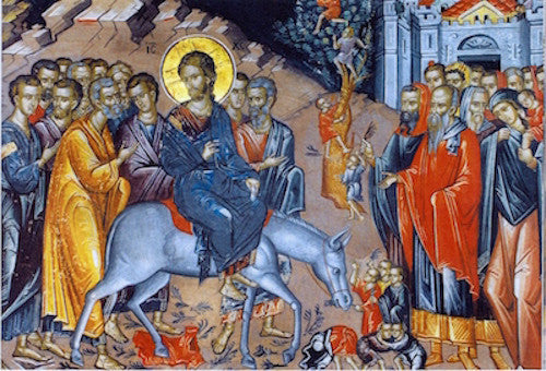 Entry of Christ to Jerusalem icon (Palm Sunday) (2)