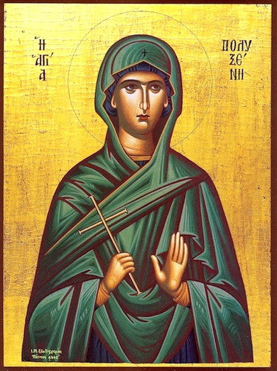 St. Polyxene the Disciple of the Apostles icon