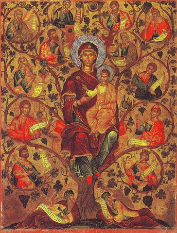 "Theotokos ""Root of Jesse"" icon"