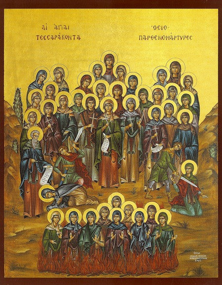 Ss. 40 Women Martyrs in Heraclea icon