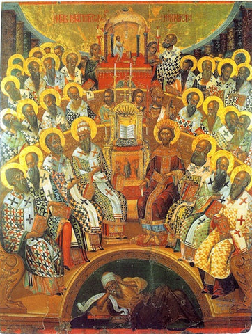 First Ecumenical Council of Nikea icon (2)