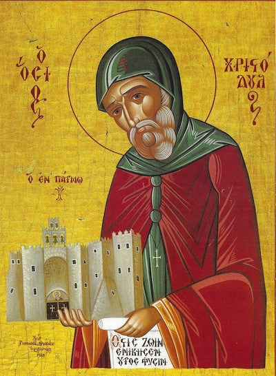 St. Christodoulos of Patmos icon