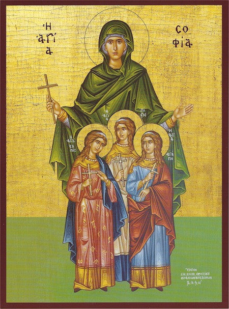St. Sophia and Daughters icon (2)
