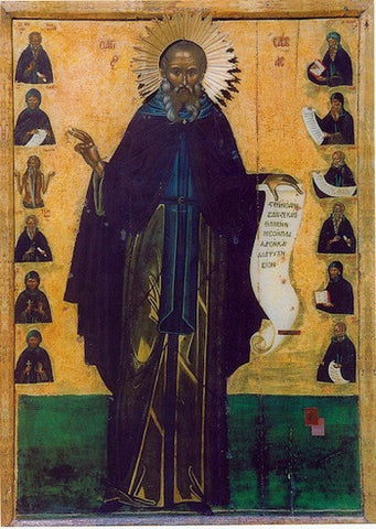 St. Savvas the Sanctified icon (2)