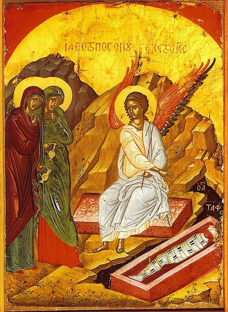 Greeting of the Angel to the Myrrh-bearers icon (1)