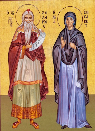 Zachariah the Prophet and St. Elizabeth icon