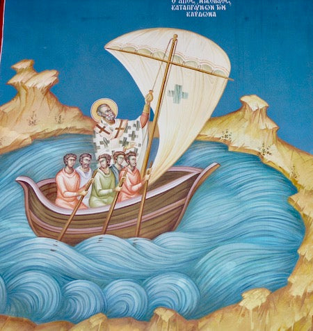 St. Nicholas and the Fishermen icon.