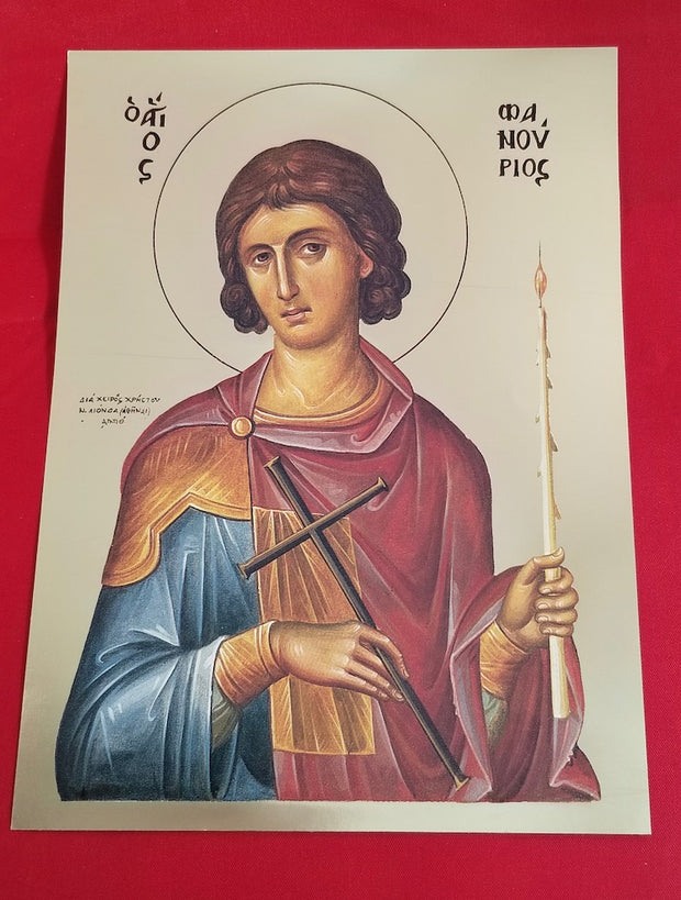 St. Phanourius icon (GF)