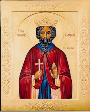 St. Elesbaan,  King of Ethiopia icon