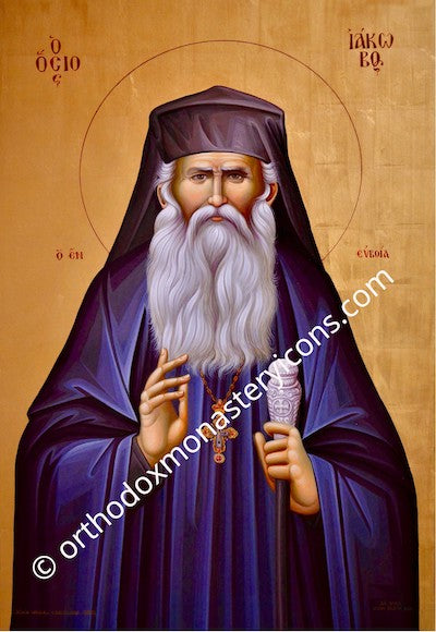 St. Iakovos of Evia icon