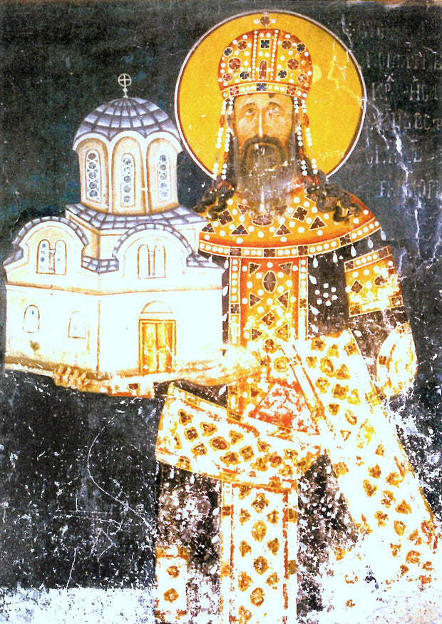 St. Stephen Milutin of Serbia icon
