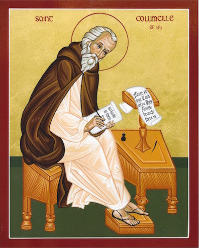 St. Columba of Iona, the Enlightener of Scotland icon.