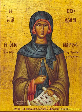 St. Theodora of Vasta icon.