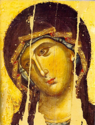 Theotokos of Chilandari Monastery icon (detail)