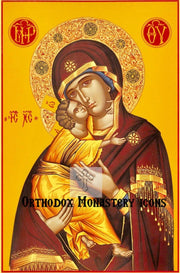 Jesus Christ and Most Holy Theotokos Pair Icons  (P2)