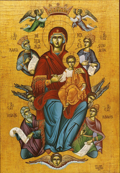 Theotokos with Prophets icon (3)