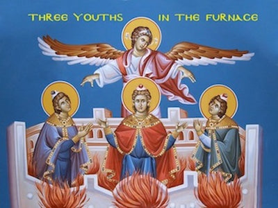 The Holy Three Youths in the furnace icon