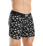 Saxx Underwear Vibe Men's Boxer Briefs Ballpark Pouch Black Jaws Small